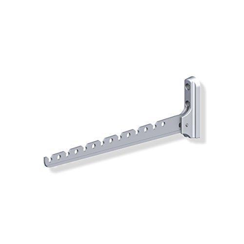 Preisvergleich Produktbild Gedotec Aufbau-Haken Kleiderhaken Garderobe Kleiderlüfter klappbar ALISA / Länge 330 mm / Aluminium silber / Klapphaken für Kleiderbügel / 1 Stück - Wand-Kleiderhalter für Balkon & Schränke