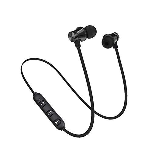 7Lucky Mini Kopfhörer bloothooth Kabellos Sport, V4.2 Magnetisch Kopfhörer mit Mikrofon für Smartphones, Tablets (Schwarz) - Tab 5 Weiß Teiler