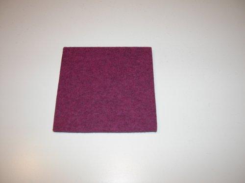 Filz Untersetzer 20cm x 20cm quadratisch malve mel. Daff