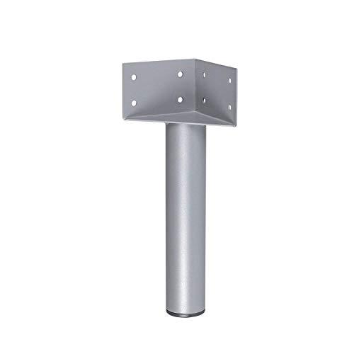 Gedotec Bettwinkel Metall Bettbeschlag nachrüsten Bettfuß zum Schrauben   Höhe 317 mm   Stahl R 9006 weißaluminium   1 Stück -