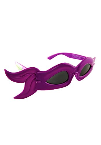 (Sunstaches Officially Licensed TMNT bandana Glasses, Purple by H2W)