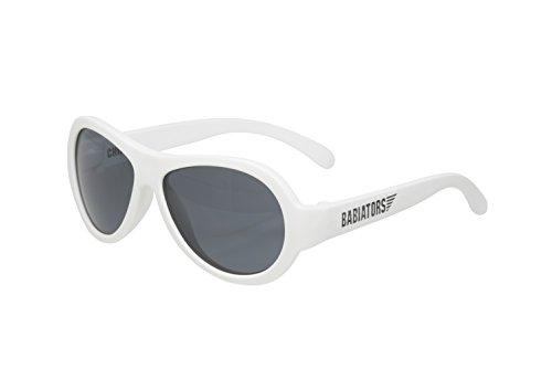 Babiators Jungen BAB-015 Aviator Sonnenbrille, Wicked White