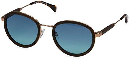 Tommy Hilfiger Damen TH 1307/S X2 WQ1 50 Sonnenbrille, Braun (Woodbrw Gold/Blue Turquo),