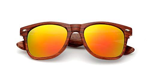 DAIYSNAFDN Handgefertigte Holz Sonnenbrille Männer Frauen Platz Sonnenbrille Holz Brille Uv400 Spiegel C4