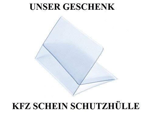 2 x Kennzeichenhalter SCHWARZ Kennzeichenhalterung im Set mit 4 Befestigungsschrauben + Montageanleitung + neue KFZ Schein Schutzhülle *** alles Neu & OVP ***TOP ANGEBOT*** - 7