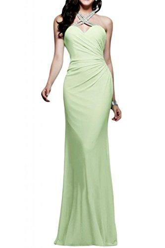 Toscana sposa Glamour Mermaid Chiffon Rueckenfrei Bete un'ampia vestimento per una serata Party ball vestimento Salbei