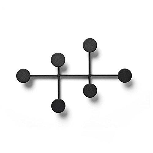 Mode-Regal XXGI 6-Satin Nickel Haken (Verfügbar 6 Haken) Auf Eisen Board Coat Rack Kleiderbügel, Mail Box Verpackung (37 * 4 * 24 Cm/14,57 * 1,57 * 9,45 - Eisen-box-board