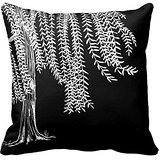 Allforyou 18 X 18 Twin Sides Bedding Pillow Case Home Decoration Square Decorative Cushion Cover Pillowcase Black And White Weeping Willow Tree Pillowcases Cover Willow