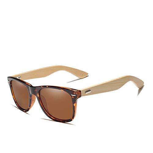 ZHOUYF Gafas de Sol Bambú para hombre y mujer. Polarizadas. Retro y Vintage