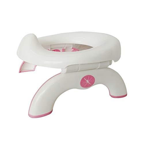 DoubleBlack Vasino Viaggio Pieghevole per Bambini Portatile WC Vasetto Riduttor Water Bimbo Rosa