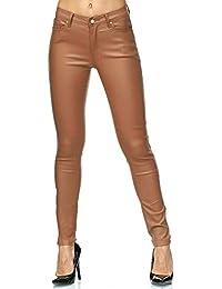 Elara Pantalon Femme en Simili-Cuir Effet Push Up Chunkyrayan