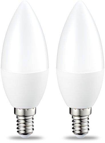 AmazonBasics LED E14 Small Edison Screw Candle Bulb, 6W (equivalent to 40W)