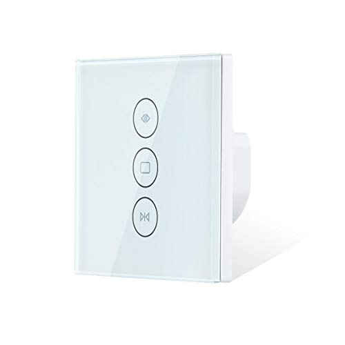 Teekar [Upgraded Tipo Cortina Interruptor de Pared WiFi Compatible con Alexa Echo...