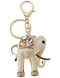 Banggood ELECTROPRIME Resin Elephant Key Ring Keychain Key Holder Keychain Handbag Pendant White