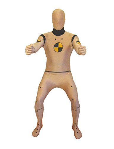 Crash Test Dummy Morphsuit beige-schwarz L - 1,60m bis (Kostüm Test Crash Dummies)