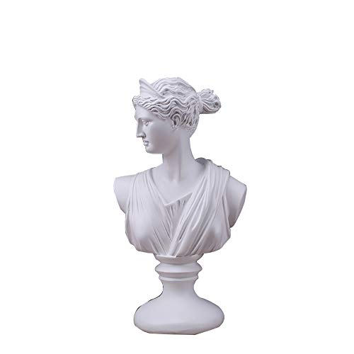 ZHZX Venus Büste Statue, Klassische griechische Göttin Harzskulptur, für das Arbeitszimmer im Wohnzimmer, 30 cm hoch (Venus Griechische Gott)