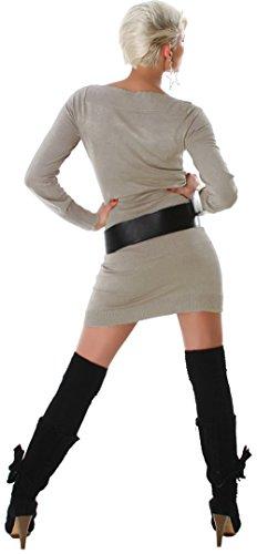 JELA London -  Vestito  - Basic - Maniche lunghe  - Donna lattemacchiato