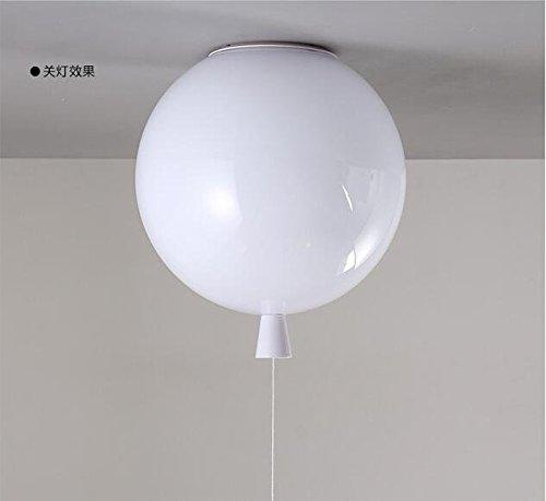 JJ LED modernes ceiling lamp ballon colorés plafonnier éclairage moderne et minimaliste creative chambre lit la maternelle Cartoon Chambre enfants plafonnier, blanc de 250 mm de diamètre, 220V-240V