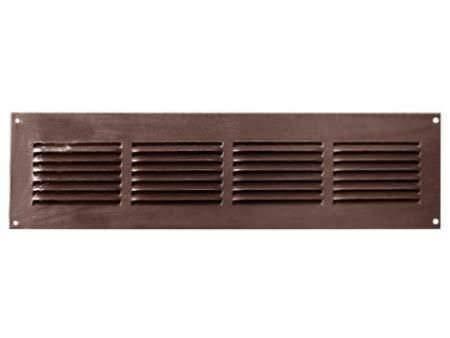 Luftgitter-Abdeckung, Stahl, Seitenwand und Decke, mit Insektenschutz, 40,6 x 10,2 cm, Braun (Cover Duct Wand-vent)