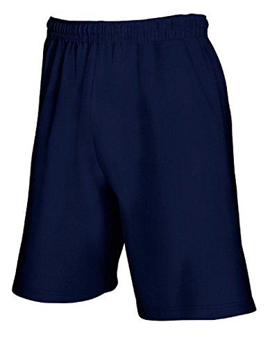 Fruit of the loom - pantaloncini casual - uomo (l) (blu scuro)