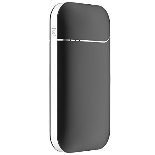 OKCS Wiederaufladbarer Handwärmer - 7800 mAH und 2A elektronischer Taschenwärmer Powerbank externer Akku USB Portable für Apple iPhone, iPad, iPod/Galaxy / LG/Huawei / HTC etc. - Night Black