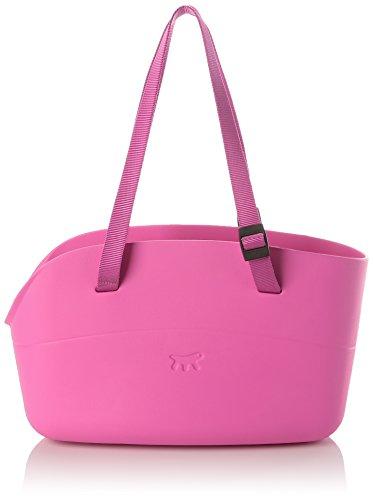 Ferplast 79505019 Hundetragetasche With-Me aus innovatiem Gummi, Maße: 43,5 x 21,5 x 27 cm, pink