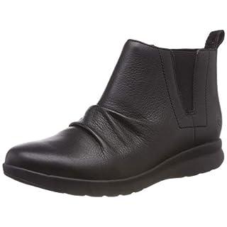 Clarks Women's Un Adorn Mid Slouch Boots, (Black Leather), 6 UK