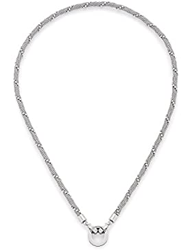 Leonardo Jewels Damen Panzerkette Darlin's Milano Edelstahl Glas silber 45 cm   016222