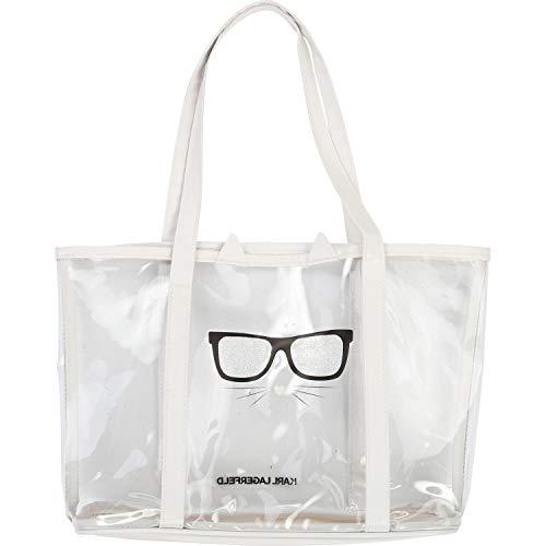 Karl Lagerfeld Kids Strandtasche transparent mit Choupette Print
