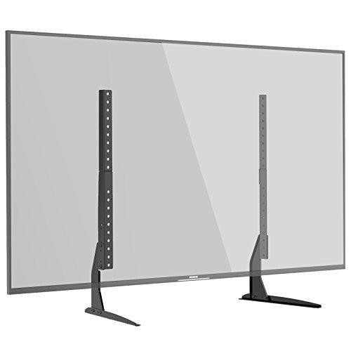 1home Universal TV Ständer für LCD LED 22-65 Zoll Fernseher Tisch Standfuß Fernsehtisch TV Halterung Höhenverstellbar Fernsehstand (Lcd-led-tvs)