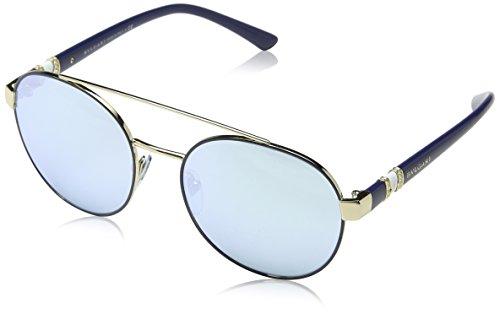 Bulgari Damen 0Bv6085B 20206J 55 Sonnenbrille, Blau (Blute/Blue White),