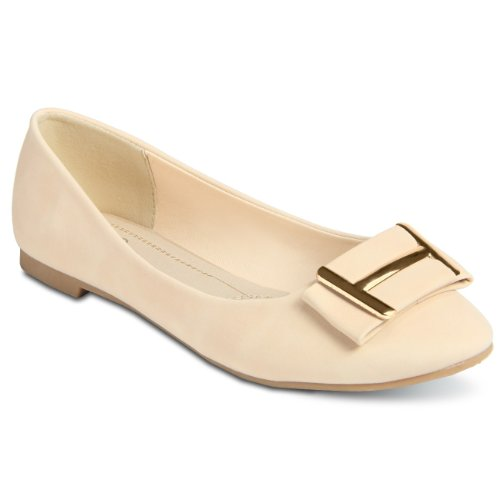 CASPAR Ballerines pour femme/Chaussures / Design élégant avec élément doré - plusieurs coloris - SBA008