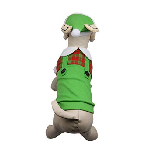 XIAHE Haustier Hund Katze Welpen Halloween Weihnachten lustige Jacke Sweatshirt Hundekleidung Spielen Kostüm Halloween kleines Haustier Teleskop-Zuggurt für Haustiere (größe : S)