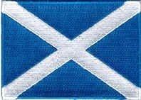 Sew-de hierro-on parche bandera Escocia Saint St