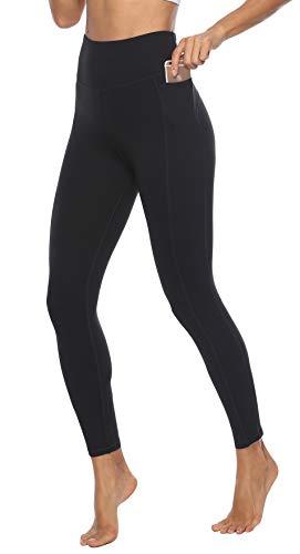 JOYSPELS Yoga Leggings Sport Leggins Damen Sporthose Schwarz S