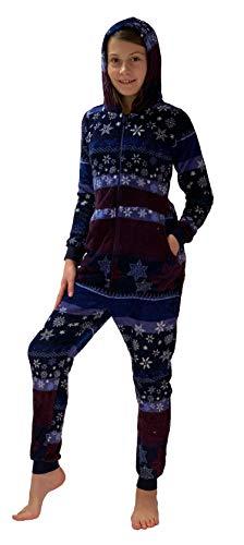 Mädchen Jumpsuit Overall Schlafanzug Onesie - Norweger Sterne Optik - 281 467 97 951, Größe:140, Farbe:Navy