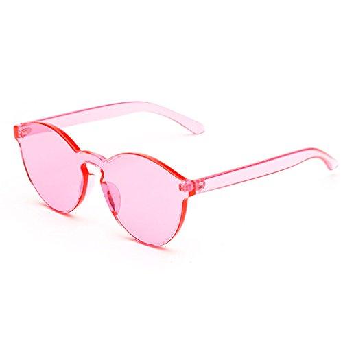 Minzhi Western Style rund UV400 Schutz Sunglass PC Objektiv-Feld Sunglass