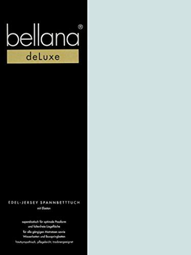 Queen-wasserbett (Bellana® Deluxe Spannbetttuch für Wasserbetten und Boxspringbetten, 180-200 x 200-220 cm, Azur)