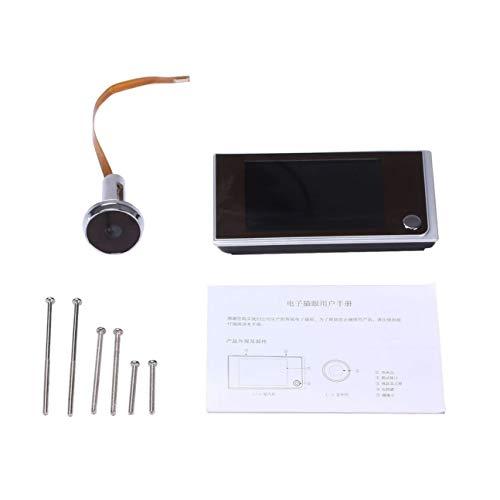 Home wireless campanello di sicurezza porta elettronico cat eye nero
