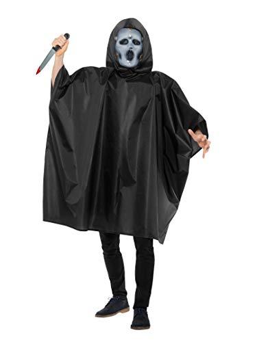 Smiffys Kinder Unisex Schrei Kostüm, Poncho, Maske und Messer, Alter: 7-9 Jahre, ()