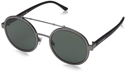 Armani Herren 0ar6070 Sonnenbrille, Matte Gunmetal/Green, 56