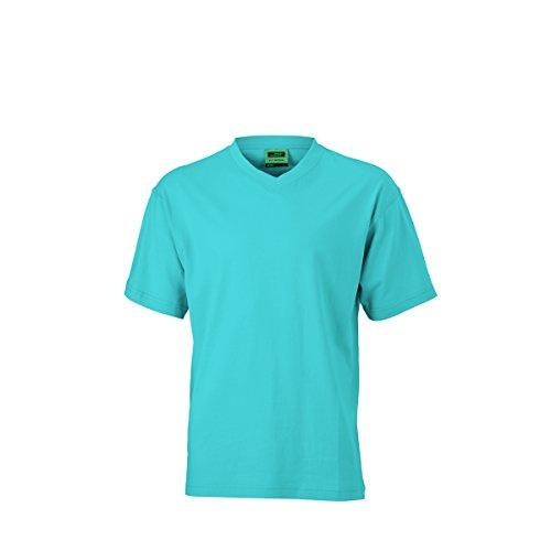 JAMES & NICHOLSON Herren T-Shirt, Einfarbig Türkisblau