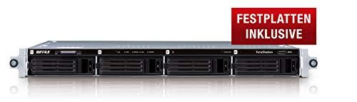 Buffalo TS1400R0404-EU TeraStation 1400 Rackmount NAS-Server 4TB (4X 1TB 1x Gigabit, RAID 0/1/5/6/10) schwarz