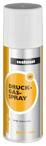 Teslanol 26003 Druckluftspray zum Reinigen und Entstauben von elektronischen und feinmechanischen Geräten - 400 ml