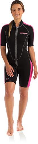 Cressi Men's Short Front Zip Wetsuit for Surfing, Snorkeling, Scuba Diving |Lido Short Lady -