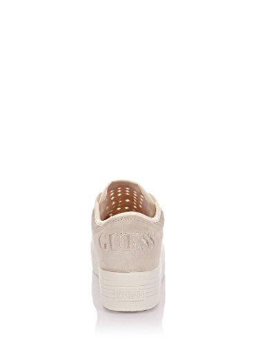 Scarpe Sneakers Donna Guess Mod. BRUNA PERFORATED SNEAKER FL1BRUELE12 Col. Bianco. Beige