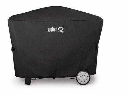 Weber Abdeckhaube Premium für Weber® Q® 200-/2000-Serie und 300-/3000-Serie auf Premium Rollwagen