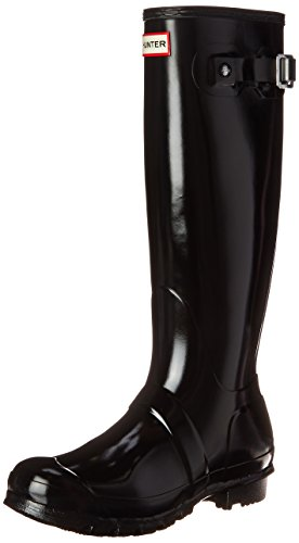 Hunter Unisex Original Gloss Wellies Black W23616 7 UK