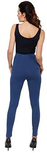 Zeta Ville - Femme maternité leggings pantalon empiècement extensible - 975c Bleu