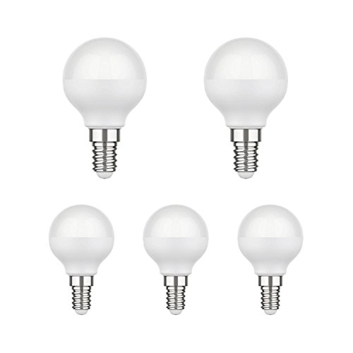 parlat E14 LED Lampe G45 4,6W =35W 350lm 130° warm-weiß, 5 STK.